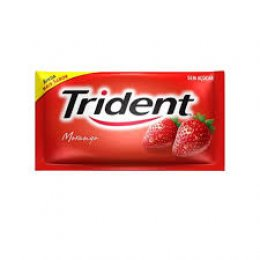 Chicle trident morango un