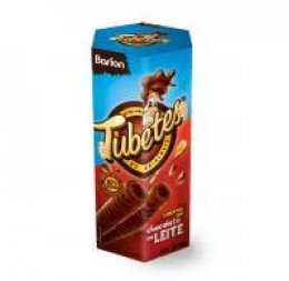 Tubetes wafer chocolate 33%  50 gr